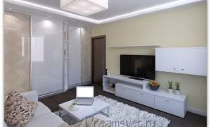 Короба из гипсокартона на потолке с подсветкой под натяжной потолок