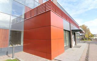 Устройство вентилируемых фасадов с облицовкой панелями из композитных материалов