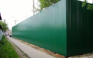 Забор из профлиста как сделать угол