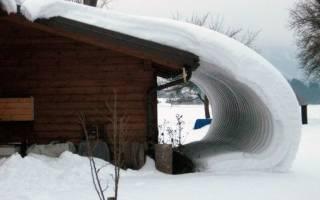 Задерживатель снега на крыше