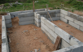 Фундамент для бани из блоков 20х20х40 своими руками