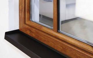 Как крепить отлив к пластиковому окну в деревянном доме?