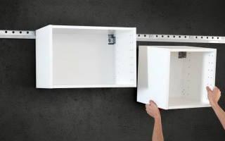 На что повесить кухонные шкафы на стену из гипсокартона
