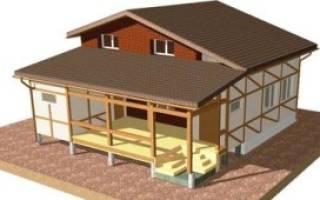 Пристройка на столбчатом фундаменте к существующему дому