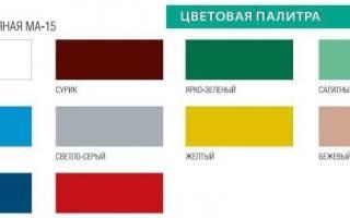 Краски масляные для наружных и внутренних работ