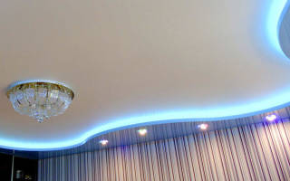 Как сделать двухуровневый потолок из гипсокартона самому с подсветкой?