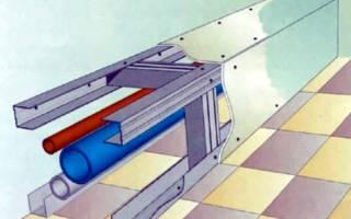 Как сделать короб в ванной закрыть трубы из гипсокартона?