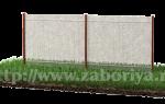 Забор из сетки рабицы 2 метра