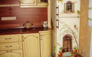 Выбор краски для старого холодильника и его декупаж