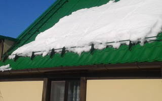 Самодельный снегозадержатель