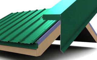 Как правильно установить ветровую планку на крышу из профнастила?