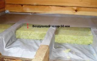 Пароизоляция для деревянного пола на лагах в частном доме