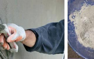 Состав раствора для штукатурки наружных стен на основе цемента