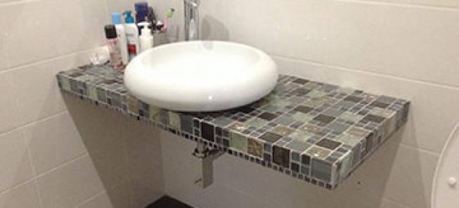 Как сделать столешницу под раковину в ванной из гипсокартона?