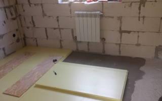Как делать пол в доме из газобетона фундамент лента?