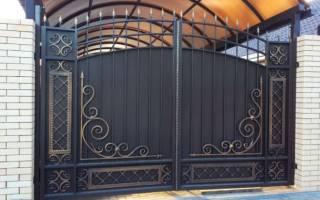 Как сделать железные ворота на забор?
