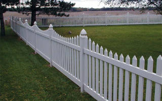 Забор своими руками из дерева маленький