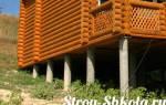 Столбчатый фундамент из асбестовых труб своими руками для каркасного дома