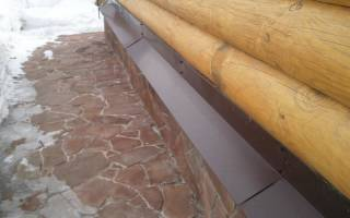 Как правильно установить отливы в деревянном доме?