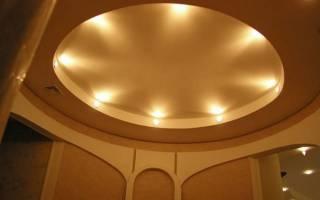 Как сделать круг с подсветкой на потолке из гипсокартона?