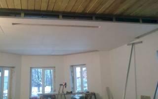 Как крепить гипсокартон к потолку в деревянном доме без профиля?