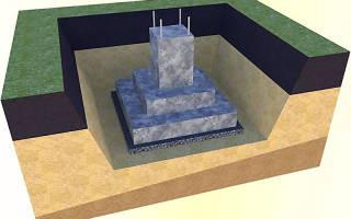 Фундаменты под столбы стаканного типа из бетона в 15 м200