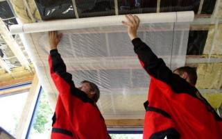 Порядок укладки пароизоляции и утеплителя на потолок