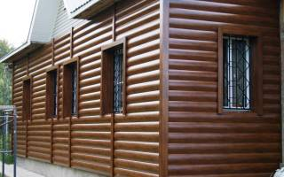 Блок хаус для наружной отделки дома металлосайдингом