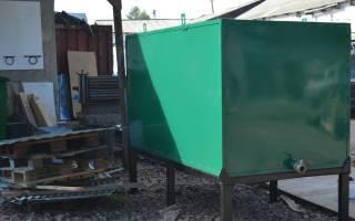 Подготовка и покраска бака для воды изделия