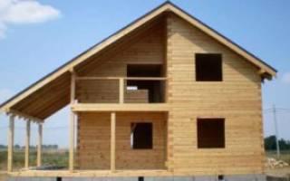 Дом из бруса от фундамента до крыши своими руками