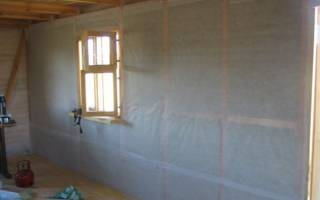 Как правильно крепится пароизоляция на каркасной стене?