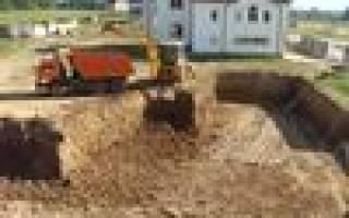 Услуги спецтехники для копания фундамента и вывоз грунта брянск
