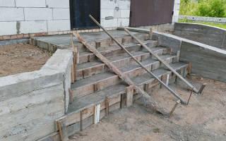 Фундамент под ступени на крыльцо своими руками из бетона