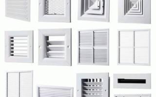Вентиляционные решетки наружные металлические фасадные закрывающие