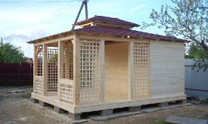 Сарай 3х4 с односкатной крышей