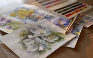Как правильно рисовать акварельными красками