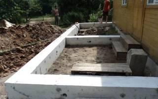 Как сделать ленточный фундамент для пристройки к дому своими руками?