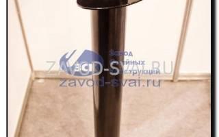 Фундамента свайного 108х2500 мм с ростверком из трубы 80х120 мм